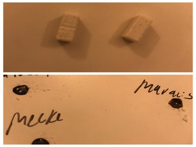 Pill Report: White domino